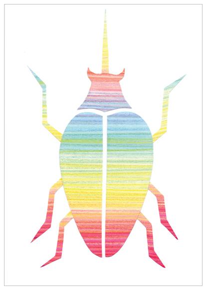kaart met regenboog kever