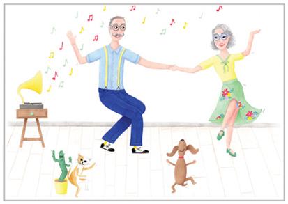 dansen kaart