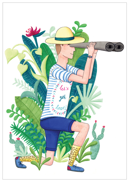 jungle man kaart illustratie