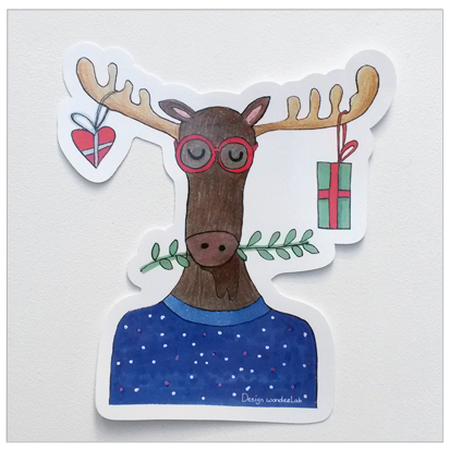 sticker winter eland