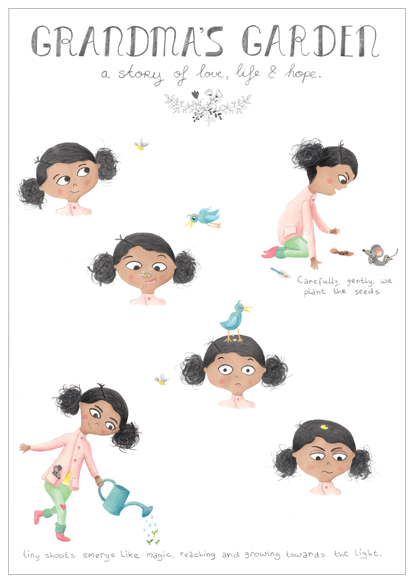 july character sheet illustratie design wonderlab