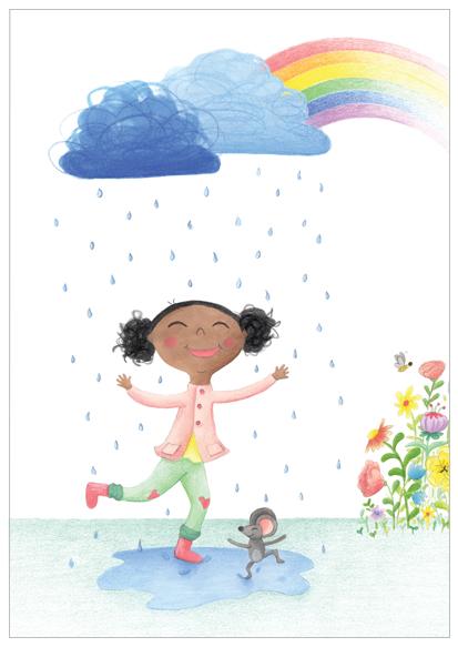 july dansen in de regen illustratie design wonderlab